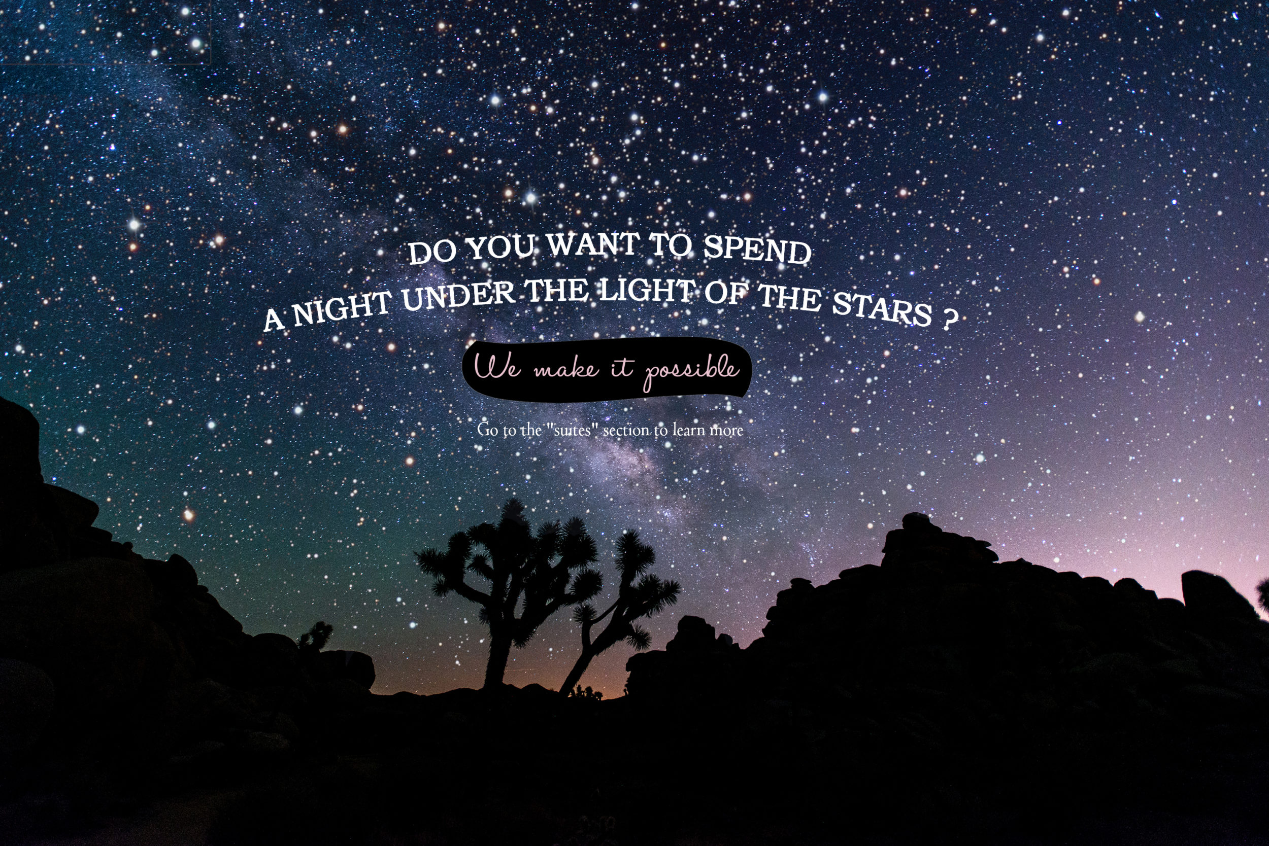 tents under the stars